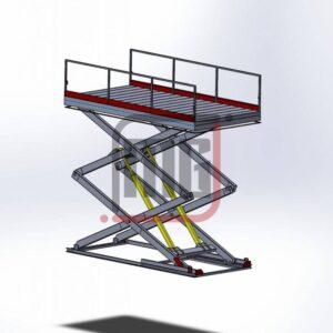 Makaslı Araç platformu, Makaslı yük kaldırma platformu tasarımları, Makaslı platform Solidworks